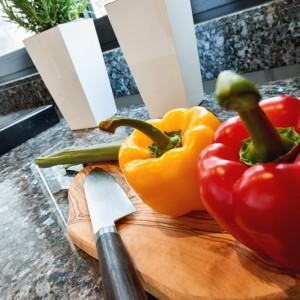 App073 Küche Theke Granitplatte Kochplatte