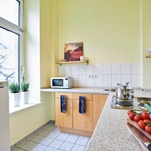 App501 Küche Theke Kochplatte Mikrowelle Kühlschrank Regal Fliesen